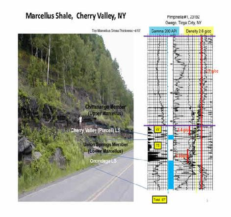 Marcellus Shale Well Log From Tioga County