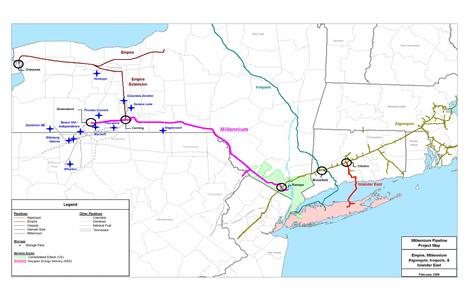 The Millenium Pipeline In The Southern Tier - Map of southern tier of us